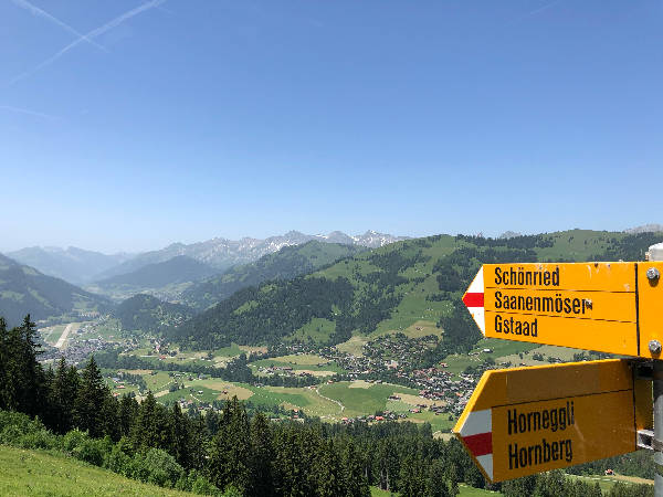 Hiking trails in Gstaad
