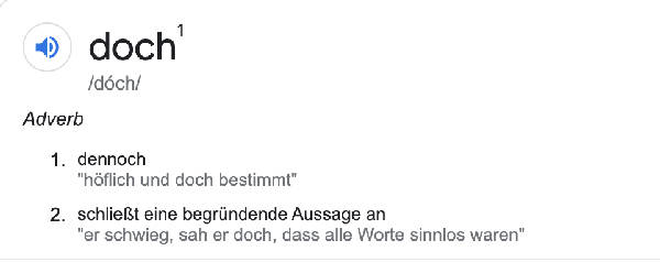doch google translation